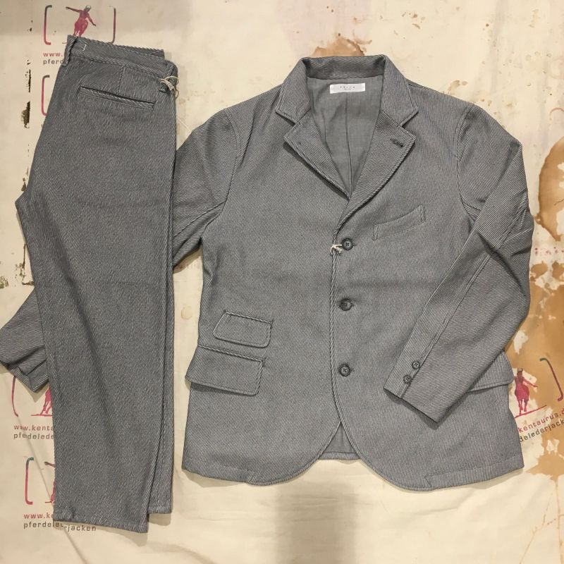 Setto, Japan ( Momotaro): Top Karsey 2 piece cotton suit, sizes M - L - XL, jacket € 554,- pant € 198,- - Kentaurus Pferdelederjacken - Köln