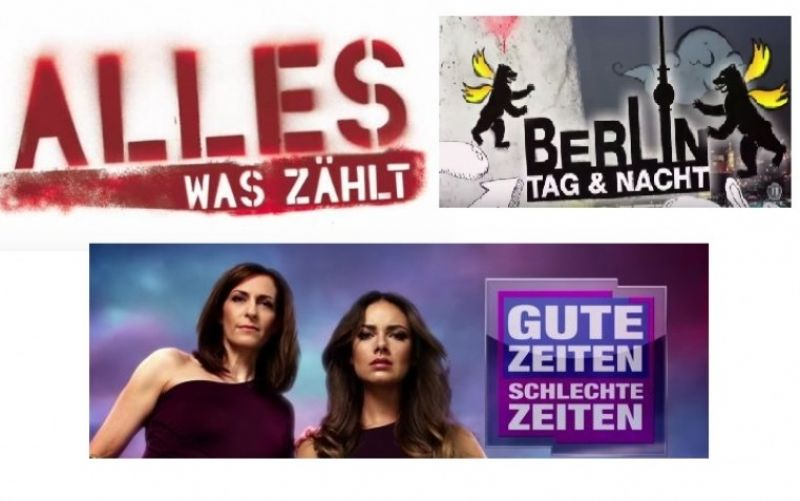 Logos der Serien  - (c) Youtube Screenshots / RTL Televison GmbH / nicojoswig / Berlin - Tag und Nacht / https://www.youtube.com/watch?v=_-uI0JGjQr4 / https://www.youtube.com/watch?v=OwkZwO7GxIk / https://www.youtube.com/watch?v=nnbvzZ4LCwk
