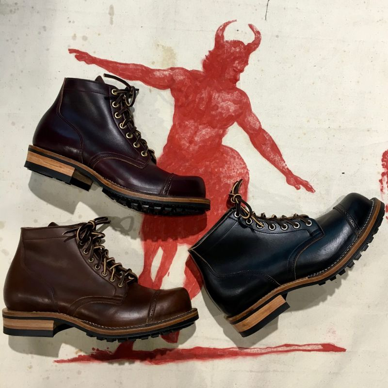 Viberg SS 2017 :  Service Boots, 310 last, brogue toe cap, black and brown and redrawn ( col 8)  chrome excel ox leather, UK sizes 7,5 -  11, EUR 948,- - Kentaurus Pferdelederjacken - Köln