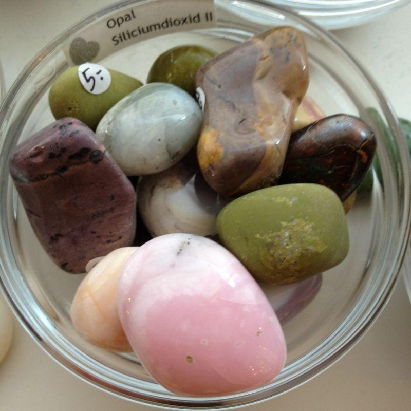 Pinkopal, Andenopal, allgemeiner Opal aus Mexiko, Peru, Madagaskar Trommelstein - Steinkreis Mineralien & Gesundheit - Stuttgart