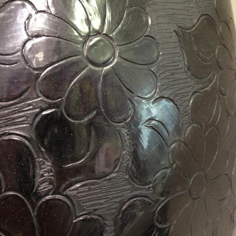 Vasen aus schwarzen Ton; Hochwertiges Kunsthandwerk aus Mexico - LUNA VIVA - Schorndorf- Bild 2