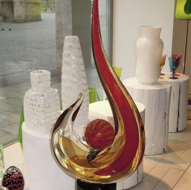 Romano Donà Skulptur, mundgeblasenes Muranoglas, Höhe 70 cm Breite 30 cm - Marcolis Supreme Italian Products - Stuttgart- Bild 1