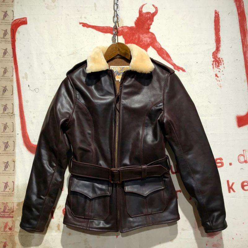 Aero Leather: Alpine, eine warme Damenjacke aus weicherem, geöltem Pferdeleder, mit Schafsfellkragen und Alpaca-Wollfutter, EUR 960,- - Kentaurus Pferdelederjacken - Köln