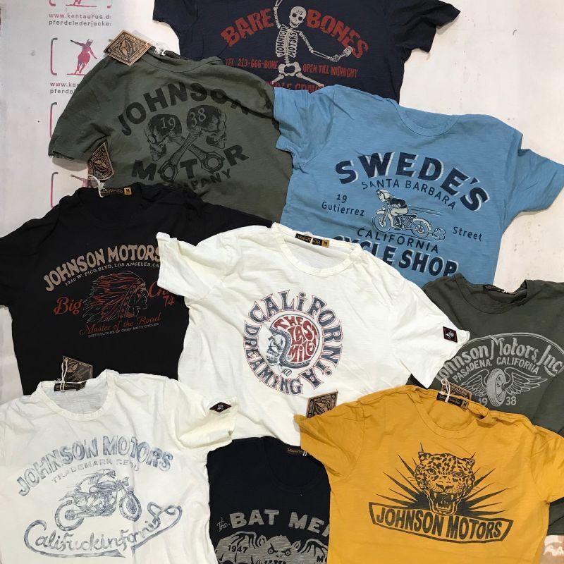Johnson Motors SS2018: viele, viele bunte T-Shirts aus Kalifornien , M - XXL, EUR 80,- - Kentaurus Pferdelederjacken - Köln