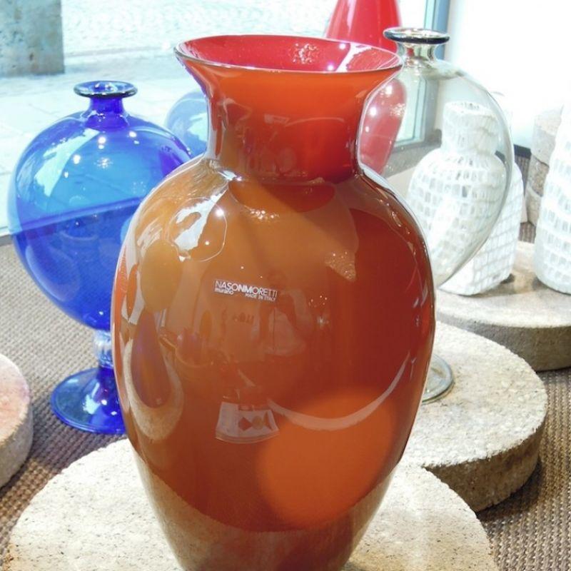 NasonMoretti Antares, Vase aus mundgeblasenem Muranoglas, Höhe 33 cm ø 20 cm. Preis: € 299,00 - Marcolis Supreme Italian Products - Stuttgart