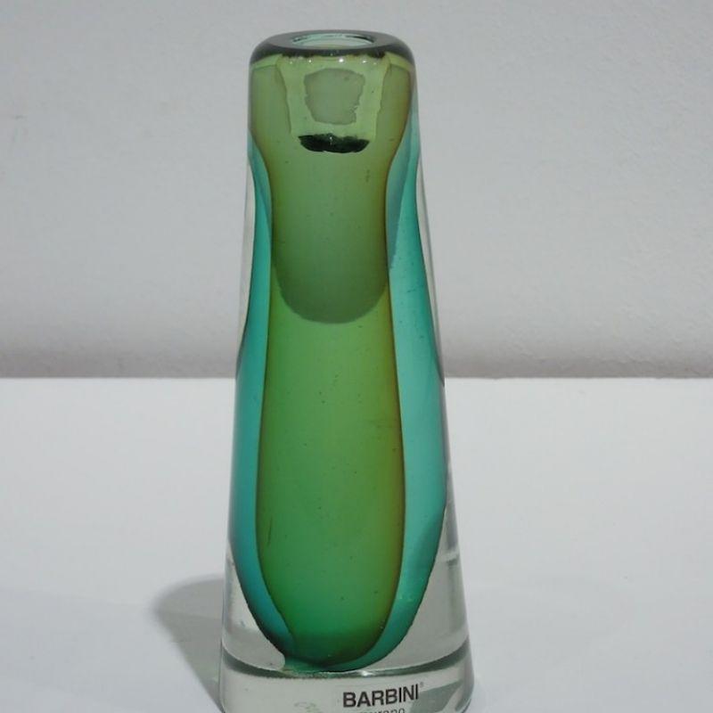 Barbini Kerzenständer, smaragdgrün mit kristallklar, mundgeblasenes Glas aus Murano. Höhe 18 cm ø 7 cm. Preis: € 199,00 - Marcolis Supreme Italian Products - Stuttgart- Bild 2