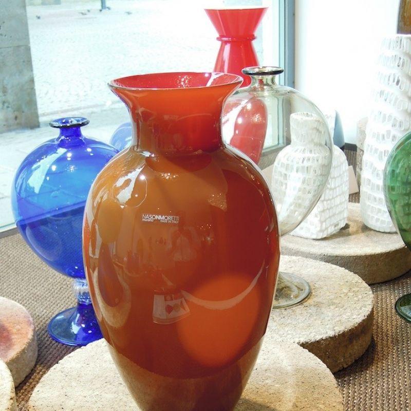 NasonMoretti Antares, Vase aus mundgeblasenem Muranoglas, Höhe 33 cm ø 20 cm. Preis: € 299,00 - Marcolis Supreme Italian Products - Stuttgart- Bild 3