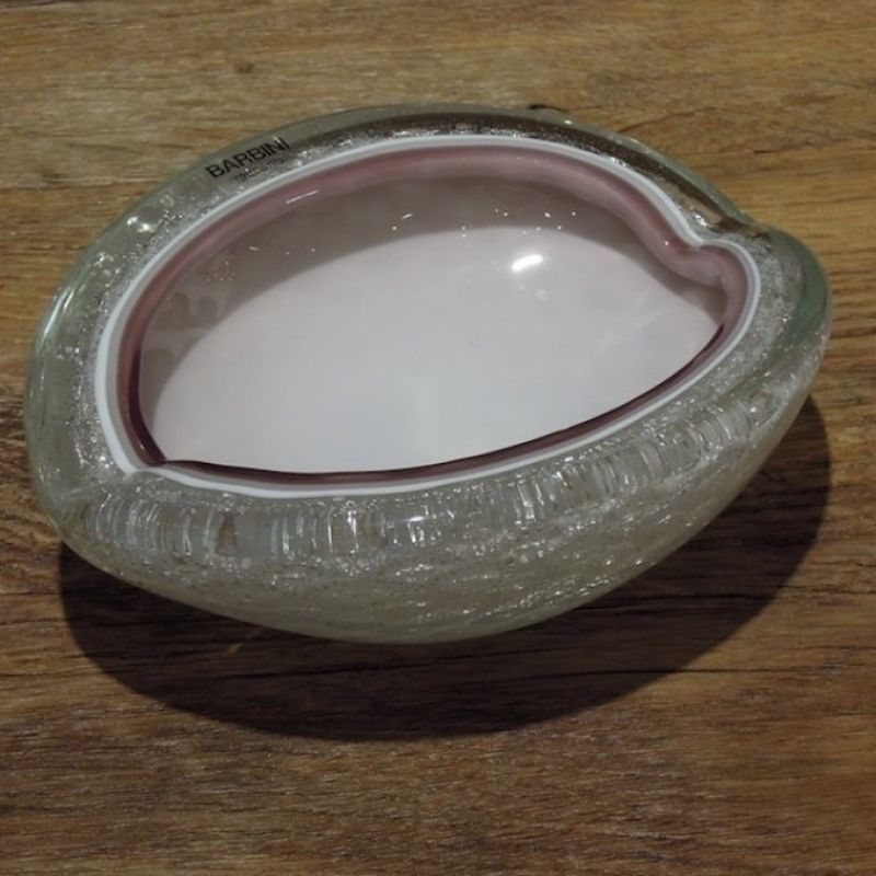 Barbini Schale, mundgeblasenes Glas von der Insel Murano. Länge 19 cm Breite 15 cm Höhe 7 cm. Preis: € 399,00 - Marcolis Supreme Italian Products - Stuttgart