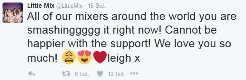 Twitter Screenshot / Tweet / Little Mix / https://twitter.com/LittleMix/status/788127340190662656