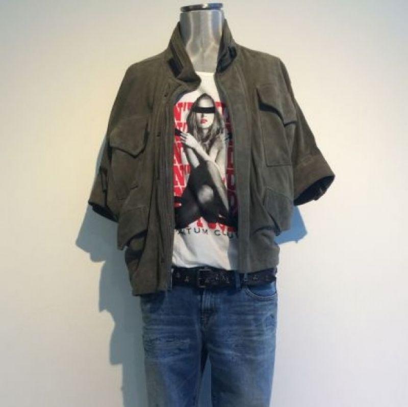 Shirt QC 115,00 €, Jeans Denham 235,00 €, Lederjacke Girogio Brato 939,00 € - Best Tina Josenhans - Stuttgart