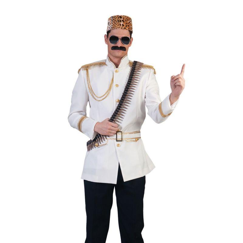 diktator<br> Mit diesem aufwendig gestalteten Kostüm sind Sie vielleicht nicht der beliebteste Gast auf der Party, aber sicherlich der meist beachtete. Die weiße Jacke mit Gürtel ist mit goldenen Knöpfen und Applikationen verziert und ein absoluter Hingucker.  <br> Home/Kostüme/Berufe/Herren<br> [http://www.pierros.de/produkt/diktator, jetzt auf Pierros.de kaufen]  - PIERRO'S in Mayen - Mayen