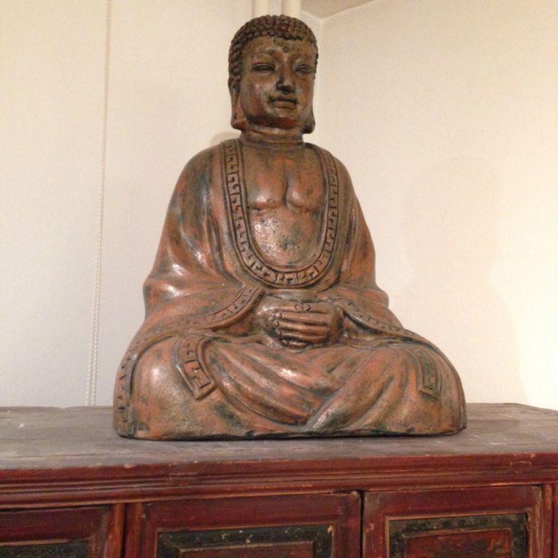 Buddha aus Terracotta - Living asia Wohnimpressionen aus Fernost - Ulm