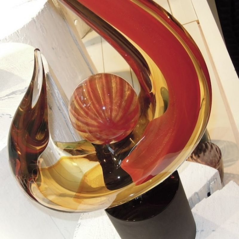 Romano Donà Skulptur, mundgeblasenes Muranoglas, Höhe 70 cm Breite 30 cm - Marcolis Supreme Italian Products - Stuttgart- Bild 2