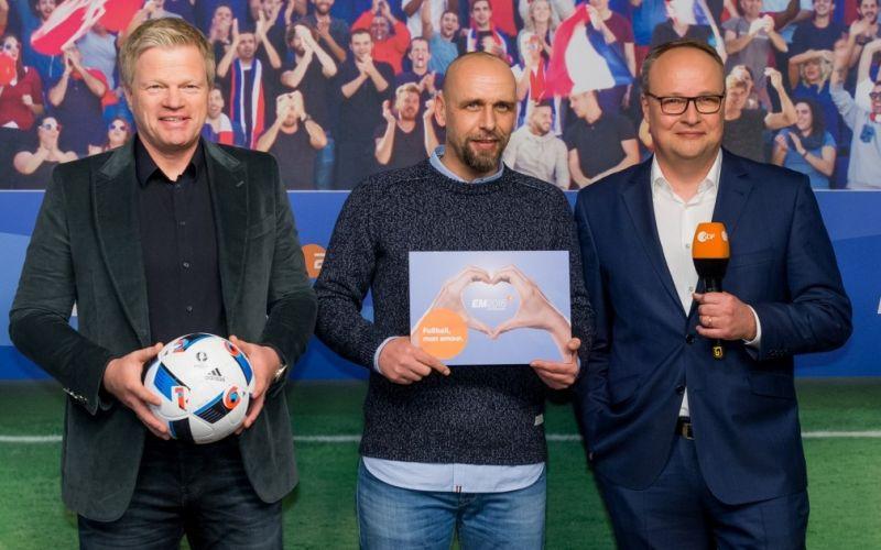 - (c) Oliver Kahn, Holger Stanislawski, Oliver Welke Copyright: ZDF/Svea Pietschmann