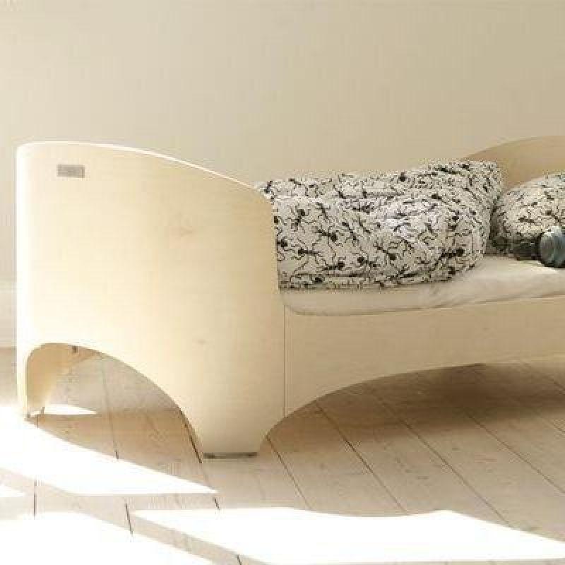 Leander Junior-Bett   AUSSTELLUNGSSTÜCK white wash inkl. Matratze   - MAMACOCON - Schönes & Nützliches für Schwangere und Babys - Münster