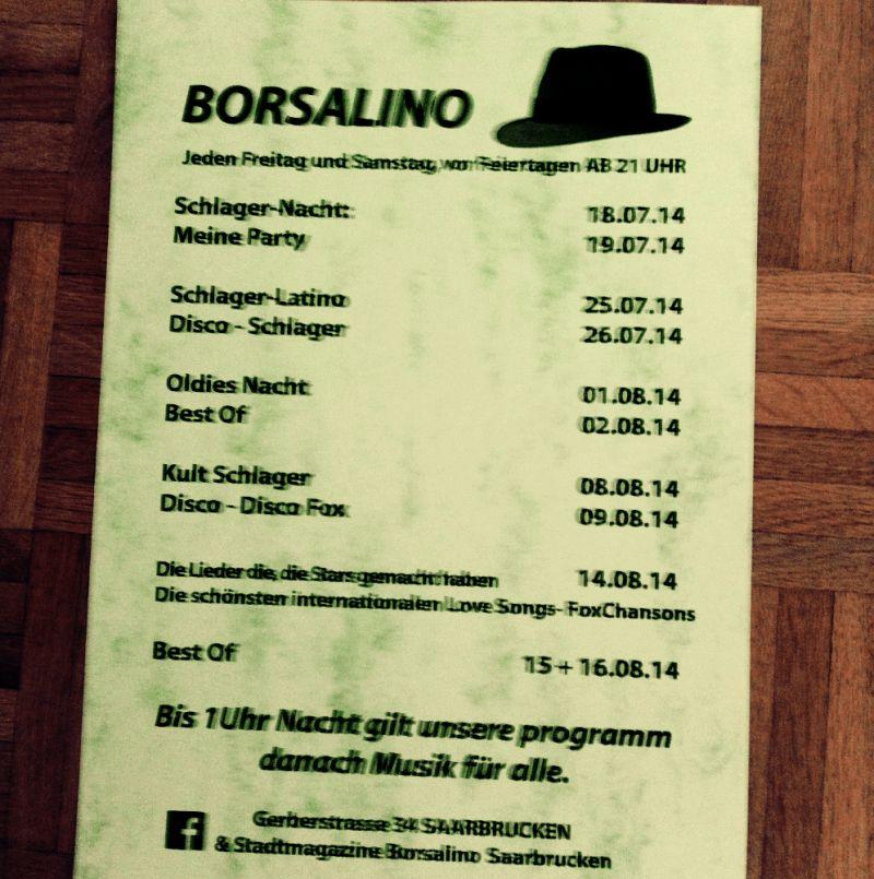 Eintrag #13679 - Borsalino Tanztreff - Saarbrücken