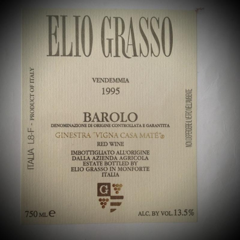Elio Grasso ( Piemonte ) 2003 - Ristorante Etrusca - Köln