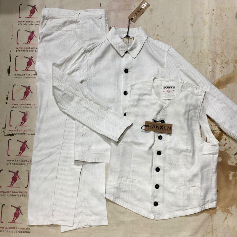 Hansen 2017: 3 piece work suit cotton/linen, M - XL, EUR 745,- - Kentaurus Pferdelederjacken - Köln