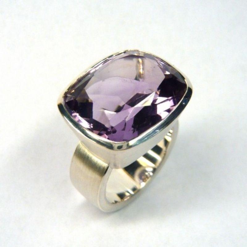 Ring, 925/- Silber, Amethyst - Marcus Götten Goldschmiedemeister - Köln