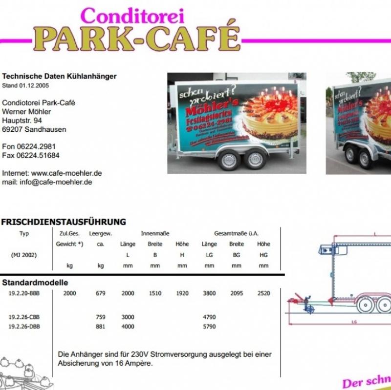Kühlanhänger  - Park Café - Leimen