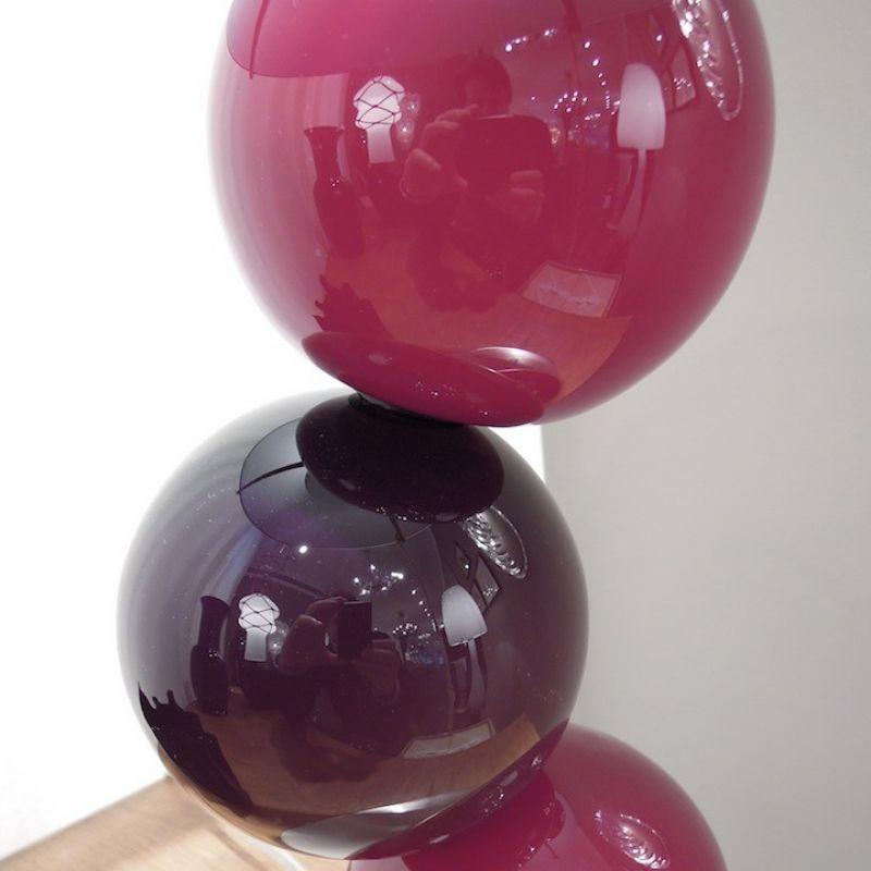 1923 Tischlampe von Nason Moretti, mundgeblasenes Muranoglas, Höhe 58 cm Durchmesser 24 cm, Lampenschirm schwarz - Marcolis Supreme Italian Products - Stuttgart- Bild 2