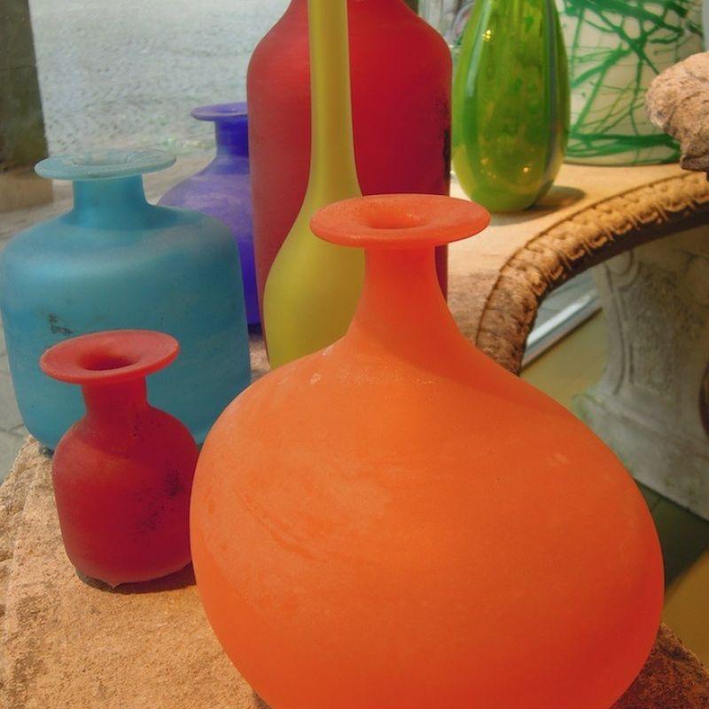 Cenedese Vasen a Scavo, mundgeblasenes Muranoglas. - Marcolis Supreme Italian Products - Stuttgart