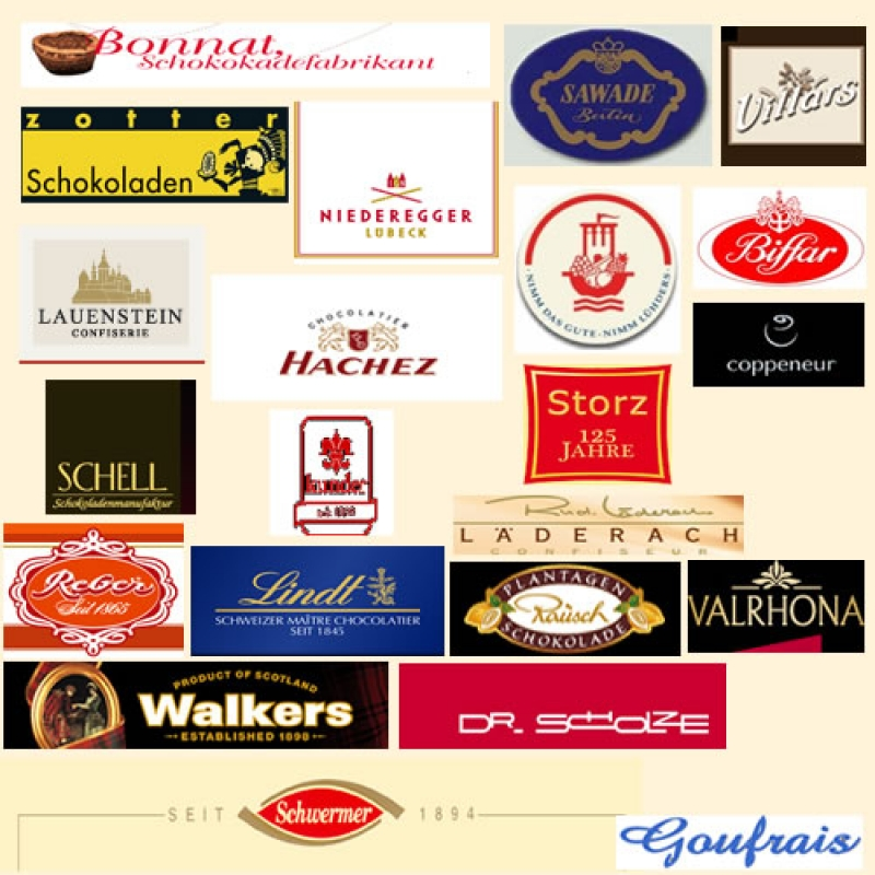 zotter Schokoladen, NIEDEREGGER Lübeck, HACHEZ, Storz, Biffar,LAUENSTEIN CONFISERIE, Lindt, coppeneur uvm....  - Confiserie Selbach - Stuttgart