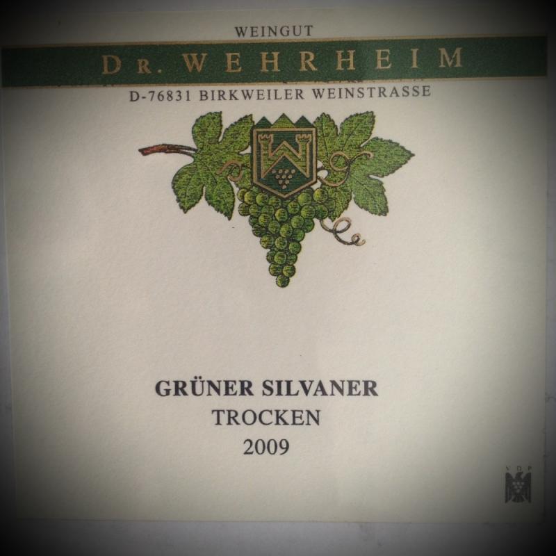 Weingut Dr. Wehrheim / grüner silvaner / Deutschland 2009 - Ristorante Etrusca - Köln