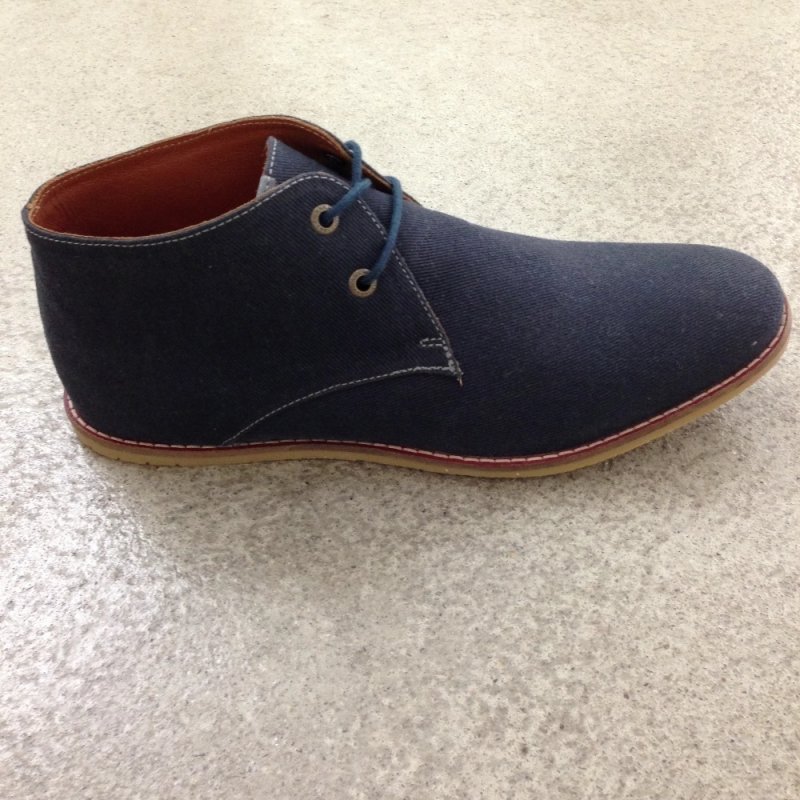 FRANK WRIGHT Shoes Modell LOCK  Sommerschuh aus Canvas in navy. - chacha-store® Ludwigsburg - Ludwigsburg