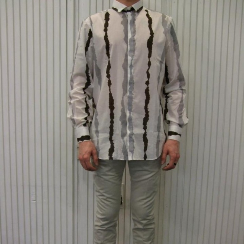 Neil Barrett Shirt - € 329,- NBF4020 (cotton,striped) Jeans - € 319,- NBF4023 (cotton, beige) - città di bologna - Köln