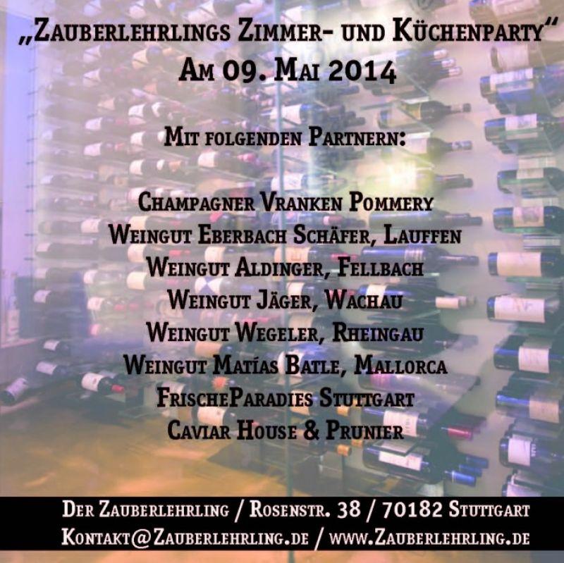 Zauberlehrlings Zimmer- und Küchenparty am 09. Mai - Restaurant Der Zauberlehrling - Stuttgart
