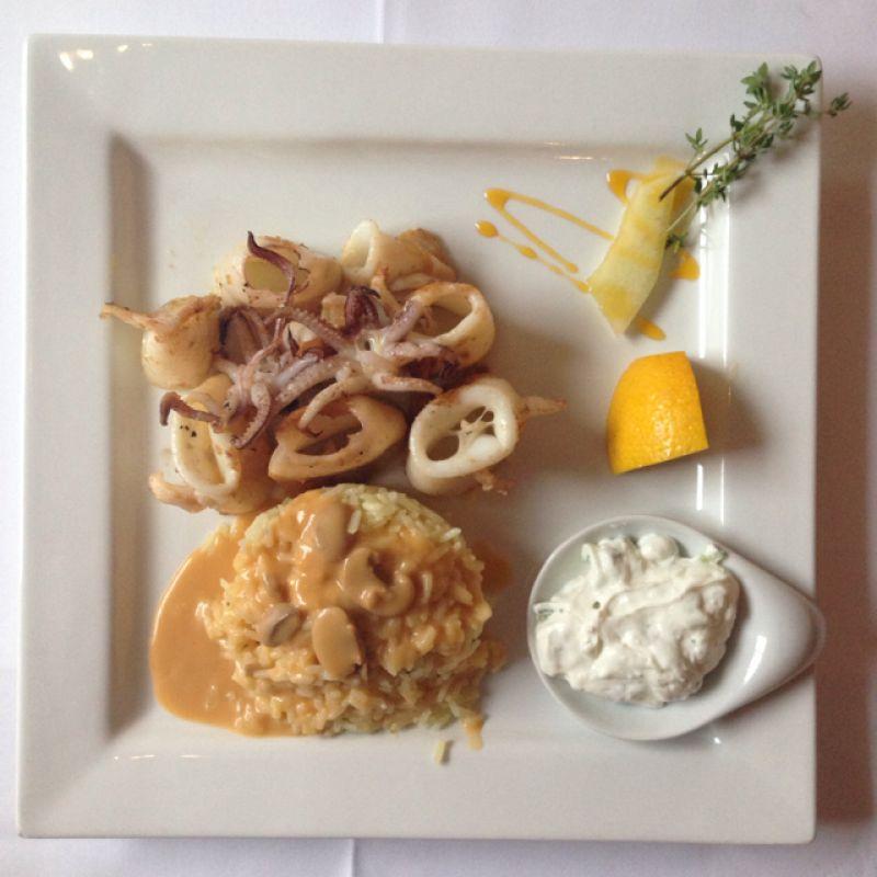 Kalamares mit Reis - Restaurant El Greco - Stuttgart