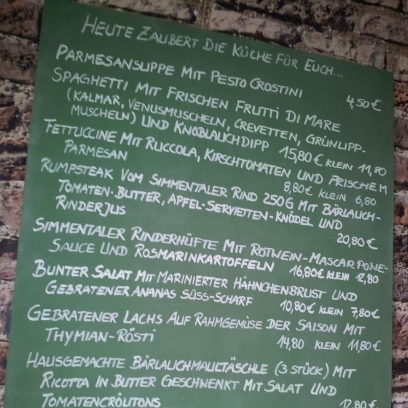 Unsere Speisetafel und einige Impressionen  - VACA VERDE Essbar & Restaurant - Karlsruhe