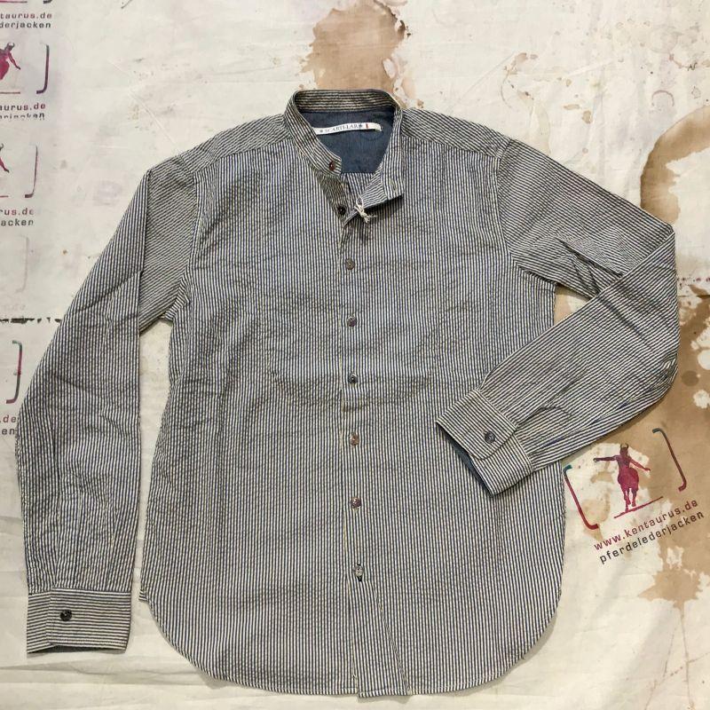 Scartilab SS18: searsucker cotton mans shirt, M - XXXL, EUR 245,- - Kentaurus Pferdelederjacken - Köln