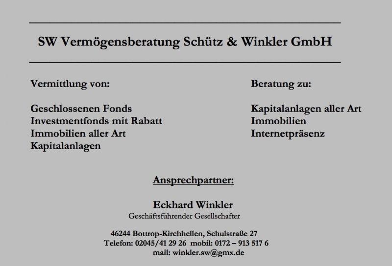 Photo von SW Vermögensberatung Schütz & Winkler GmbH in Bottrop