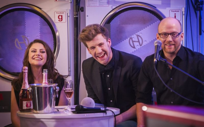 Tahnee, Luke Mockridge und Uli Grewe - (c) Guido Schröder / Brainpool Entertainment Live GmbH