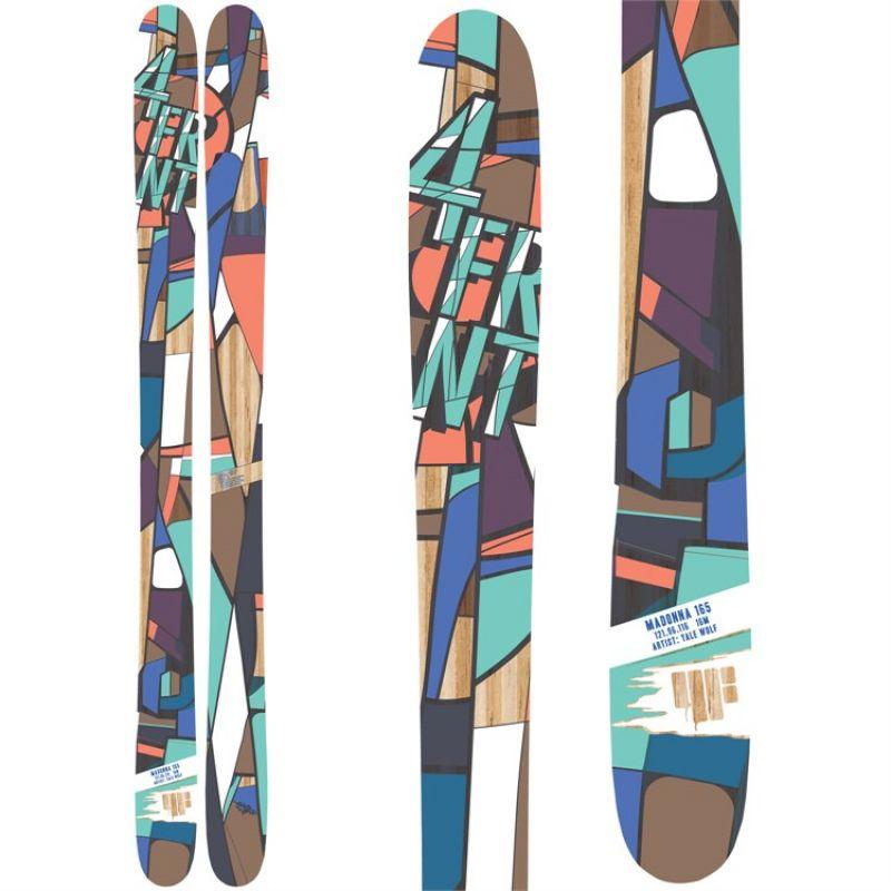 4 Frnt Ski aus der Identity Serie. Madonna.  Einer der flexibelsten All-Mountain Ski auf dem Markt. In cooler Optik mit besten Fahreigeschaften.  Kategorien: All-Mountain, Big Mountain, Powder  Skiform: CLASSIC CAMBER + ROCKER  Verfügbare Größen: 158, 165, 172  - Bergwerker - Stuttgart