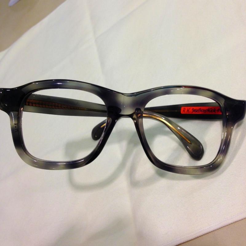 Handgefertigte Brille ( Einzelstück) von Rainer Kalb, Gesellenstück von 1976 - Optiker Kalb - Stuttgart- Bild 1