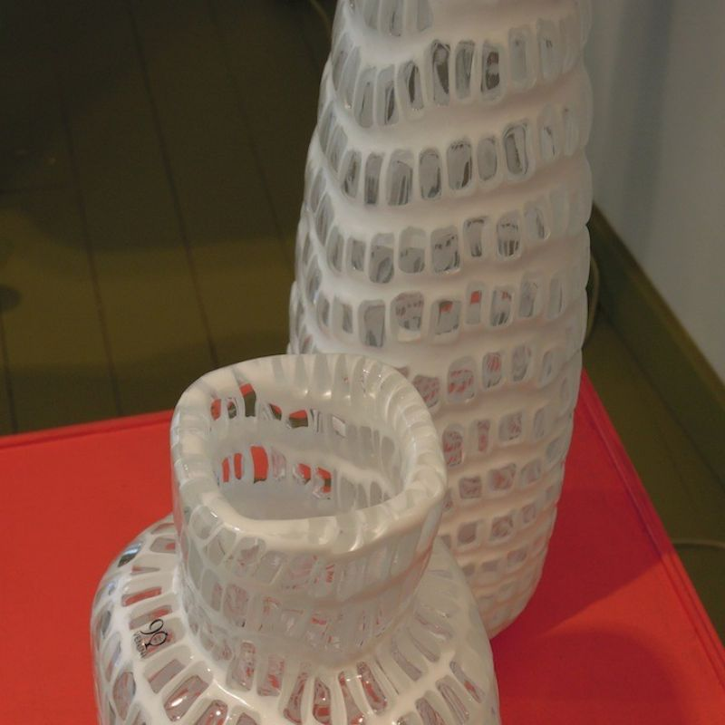Venini Occhi von Tobia Scarpa, milchweiss und kristall. - Marcolis Supreme Italian Products - Stuttgart- Bild 1