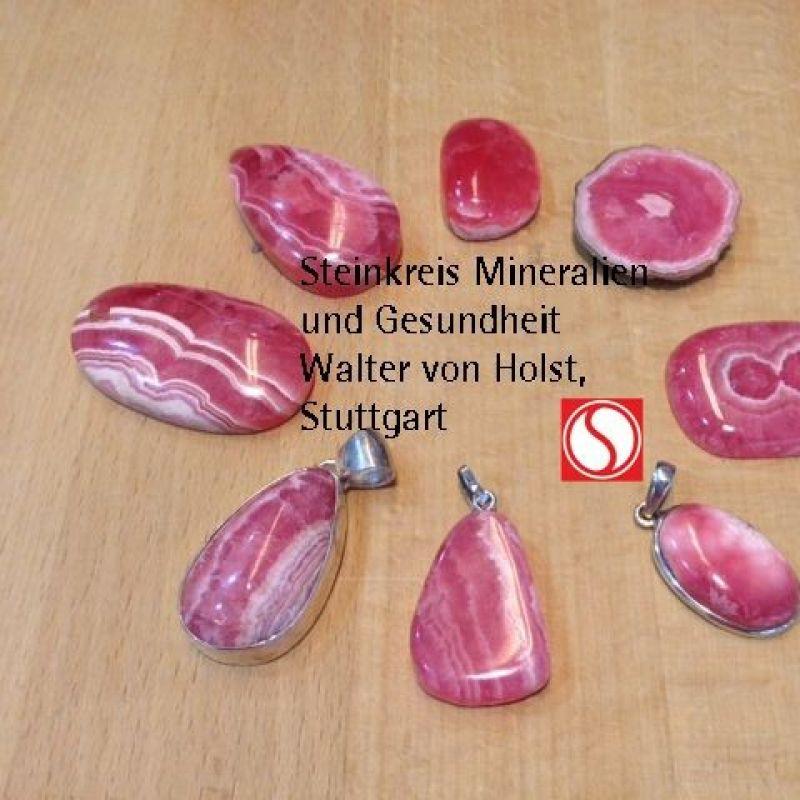 Rhodochrosit aus Argentinien, Ortitz Mine Für ein charmentes Lebensgefühl Steinkreis Mineralien und Gesundheit Tel: 0711 2271203 - Steinkreis Mineralien & Gesundheit - Stuttgart