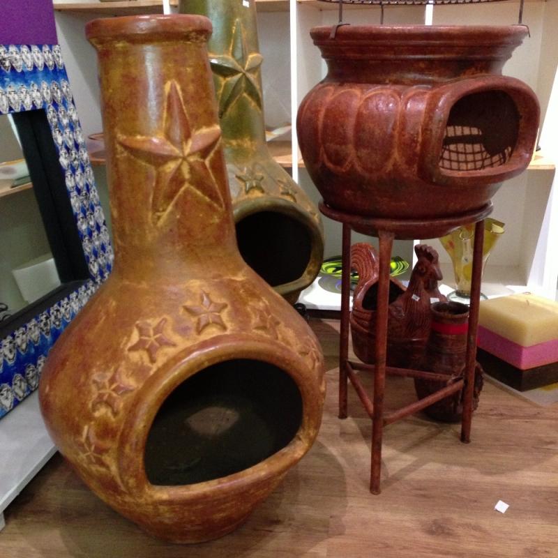 Terassen Kamine aus Mexico; Azteken-Ofen aus Ton - LUNA VIVA - Schorndorf