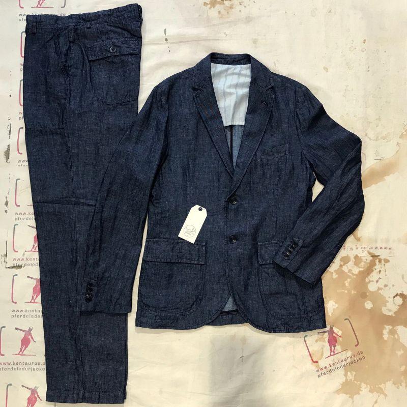 East Harbour Surplus: 2 piece suit, 60% cotton 40% linen, sizes 48 - 56 EUR 348,- ( jacket) plus 198,- ( fatigue pant) - Kentaurus Pferdelederjacken - Köln