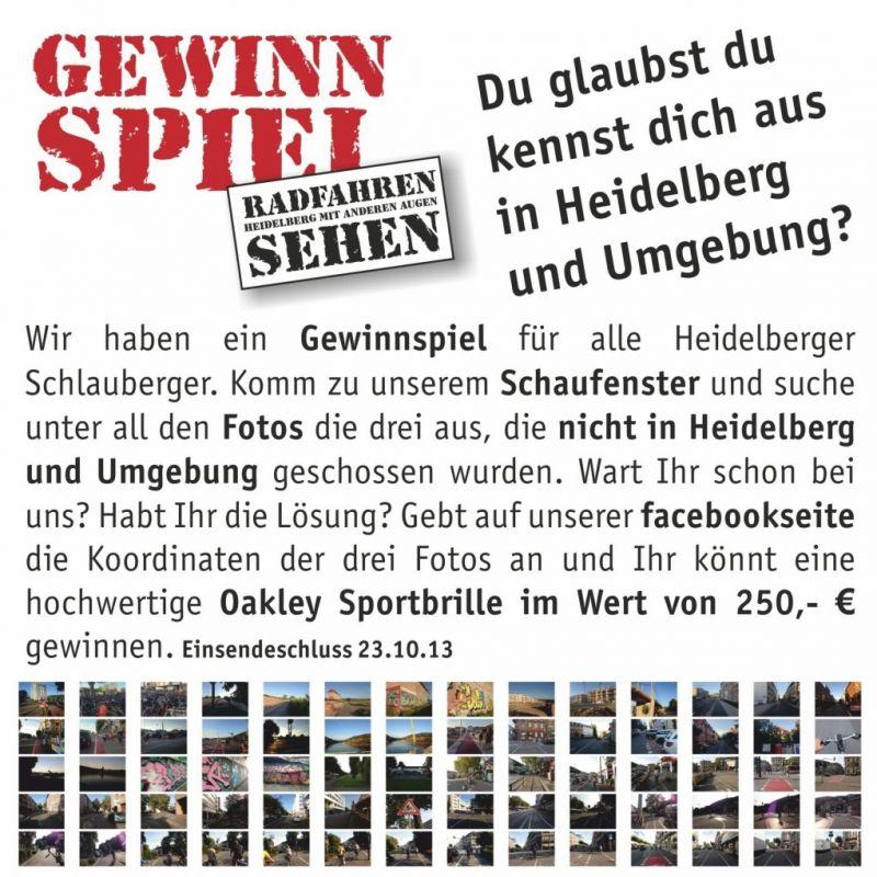 Spielt mit bei unserem RadSchau-Rätsel! Lösung einfach auf unsere facebookseite posten und gewinnen... - eye and art - Heidelberg
