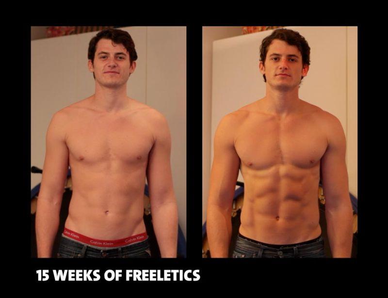 Erstaunliche Ergebnisse nach 15 Wochen - (c) freeletics.com