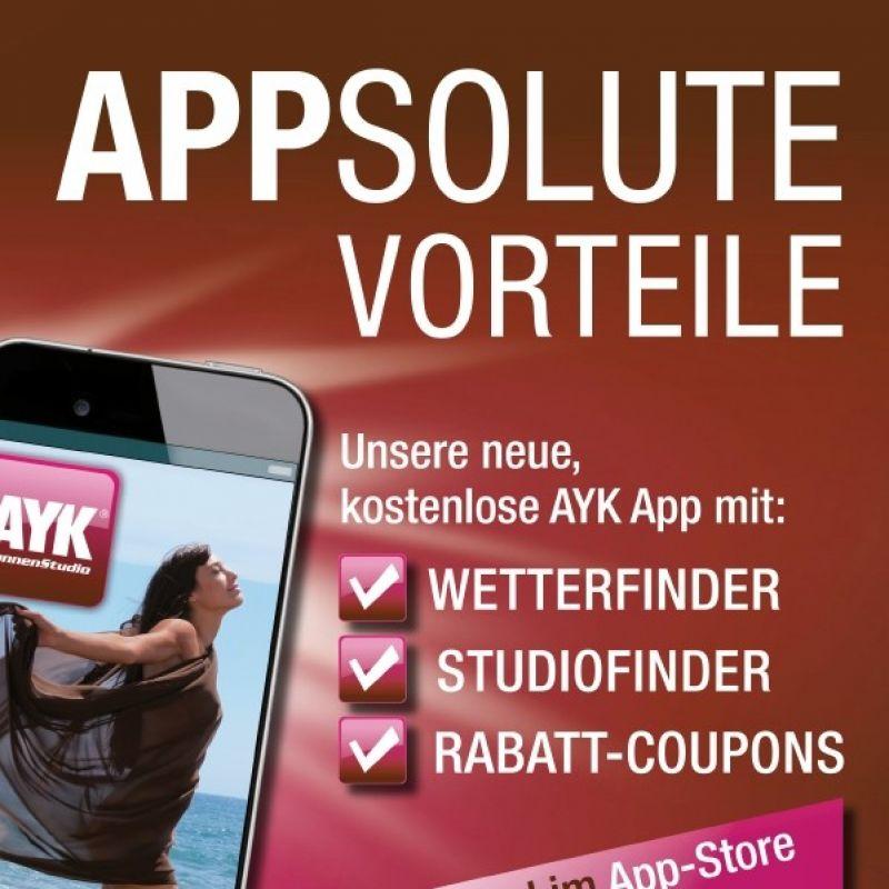 Sonnenstudio, AYK App mit Sparcoupons - AYK Sonnenstudio - Köln