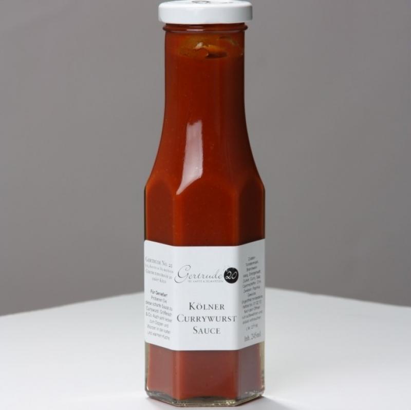 Unser Bestseller: die wohl leckerste KÖLNER CURRYWURST-Sauce der Welt. Finden wir zumindest ;-) - Gertrude No. 20 für Gourmets und Genussmenschen - Köln