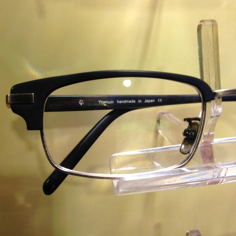 Kombi-Brille ( Kennedy Brille ) von Lunor in Titan und Zellacetat - Optiker Kalb - Stuttgart- Bild 2