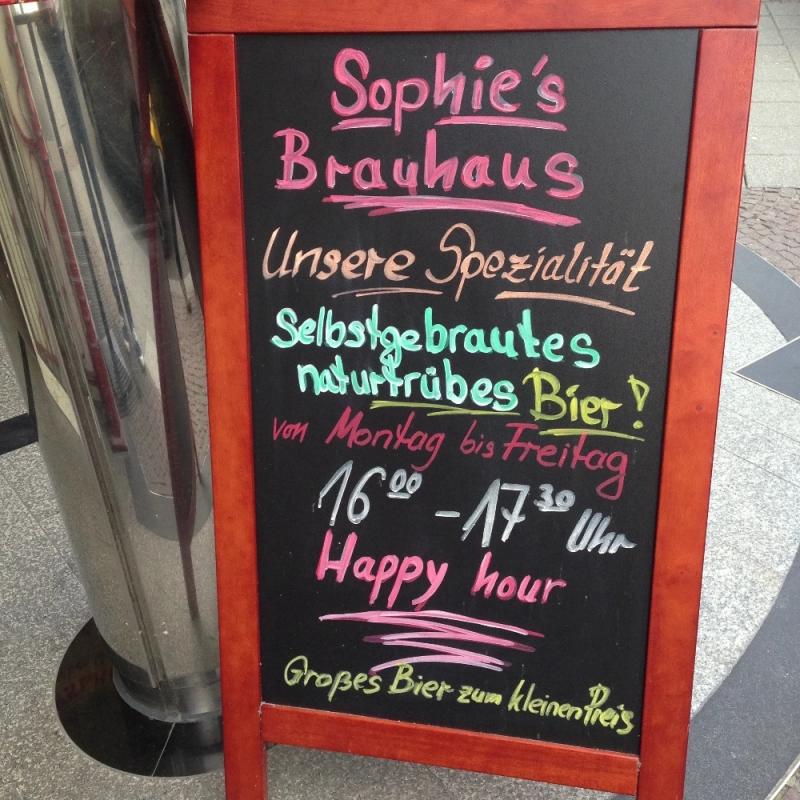 Sophies Brauhaus unsere Spezialität selbstgebrautes Bier - Sophie's Brauhaus - Stuttgart
