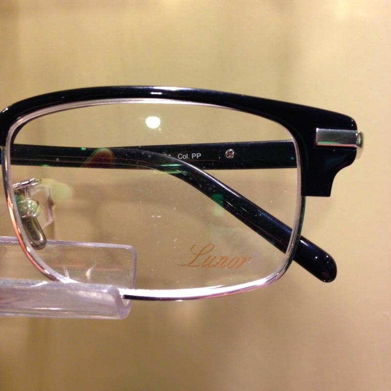 Kombi-Brille ( Kennedy Brille ) von Lunor in Titan und Zellacetat - Optiker Kalb - Stuttgart- Bild 3