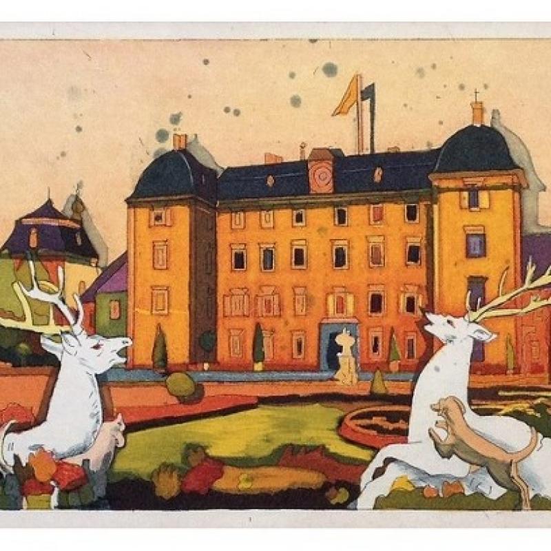 die neue Schwetzingen Radierung ist da!  Gerhard Hofmann 2013  Farbradierung Schloßgarten Schwetzingen  Bildformat: 15cm x 41cm  Papier: 28,5cm x 53cm - Das Atelier - Schwetzingen